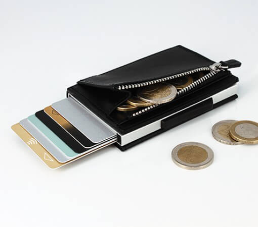 The Cascade Wallet with a coin pocket!