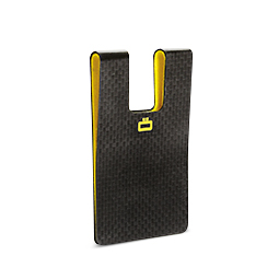 Polycarbonate, carbon effect i3C: CARBON CARD CLIP (credit card size)