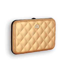 Card case QUILTED BUTTON (credit card size)