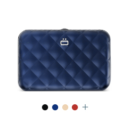 Card case, wallet QUILTED BUTTON WALLET