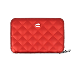 Card case, wallet QUILTED ZIPPER WALLET (credit card size + coins)