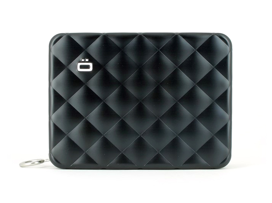 Quilted Passport Wallet / Black