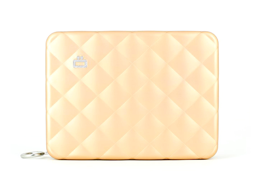Quilted Passport Wallet / Rose Gold