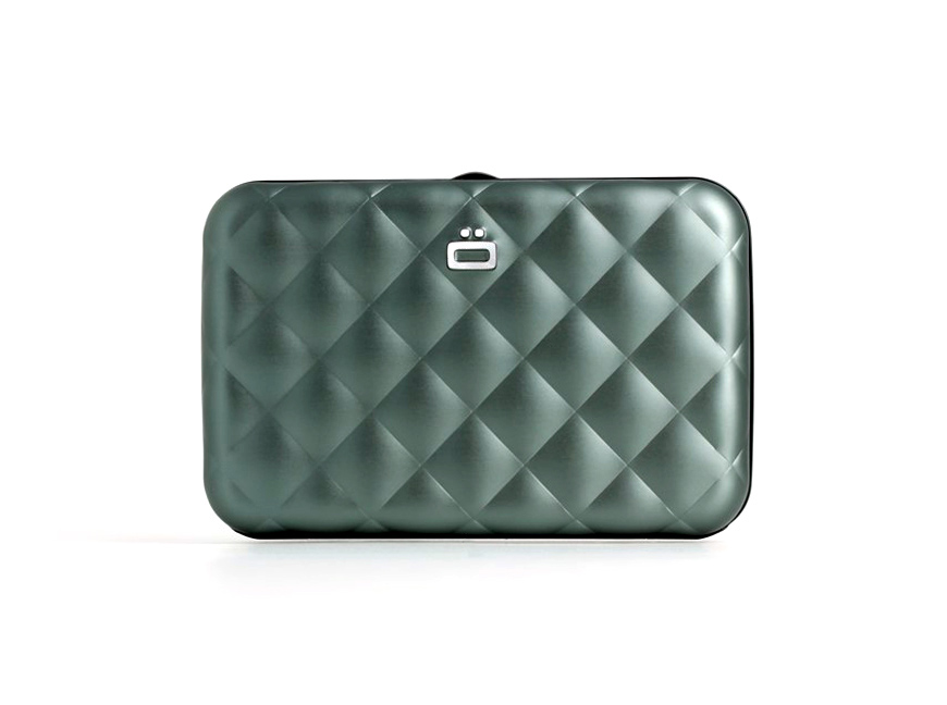 Quilted Button Card Case / Platinium