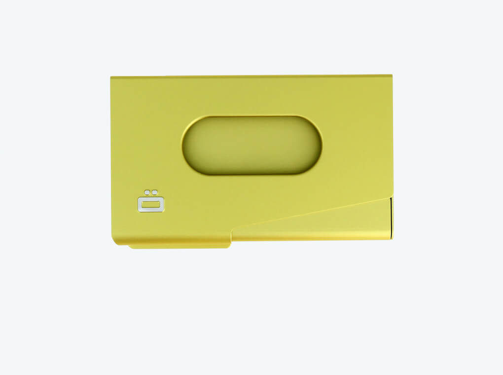 Business card holder One Touch / Green Lime