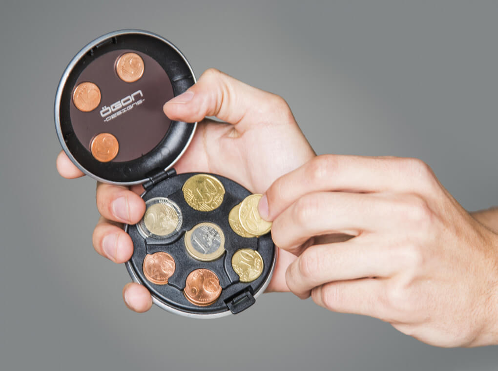 Euro Coin Dispenser / Rose Gold