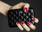Quilted Button Card Case / Black