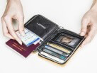 Quilted Passport Wallet / Silver