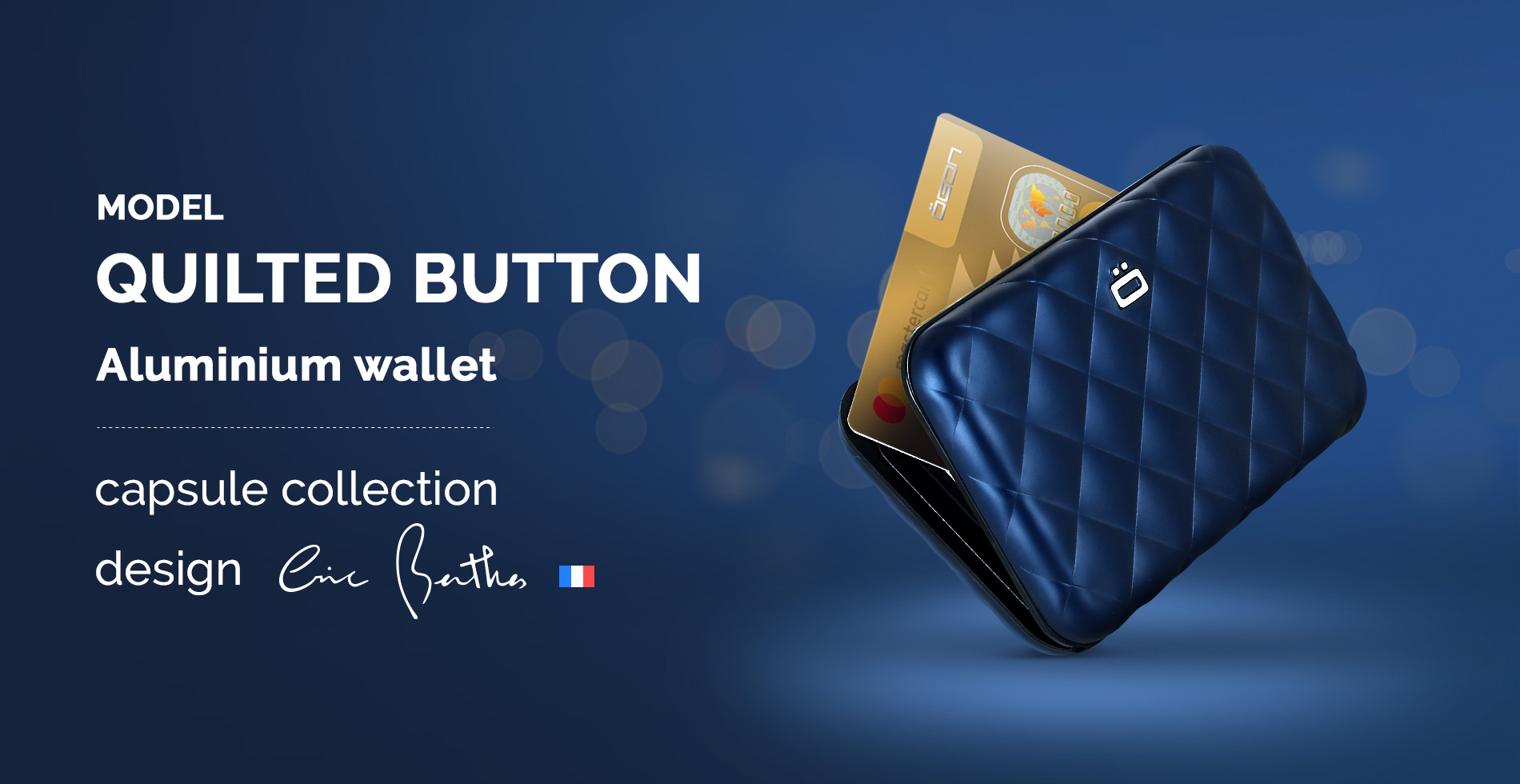 Ögon Designs - <strong>QUILTED BUTTON WALLET</strong>