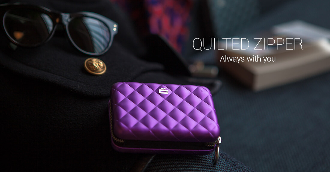 Ögon Designs - Card case <br/><strong>QUILTED ZIPPER</strong>