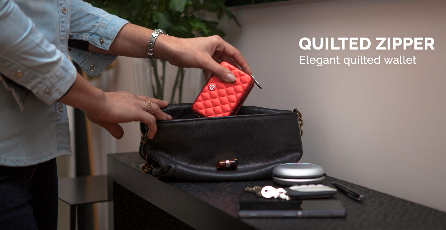 Ögon Designs - <strong>QUILTED ZIPPER WALLET</strong>