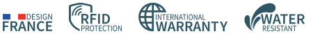 Card case, wallet STOCKHOLM V2 WALLET - Made in France - RFID safe